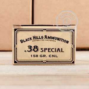 Image of Black Hills Ammunition 38 Special pistol ammunition.