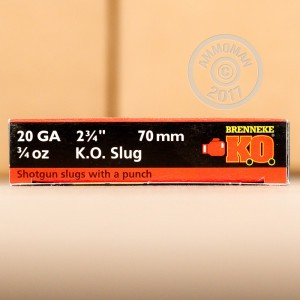 Great ammo for home protection, whitetail hunting, these Brenneke Slugs rounds are for sale now at AmmoMan.com.