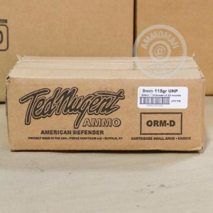 Image of Ted Nugent Ammo 9mm Luger pistol ammunition.