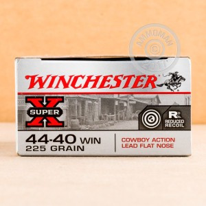 Image of 44-40 WCF ammo by Winchester that's ideal for training at the range.