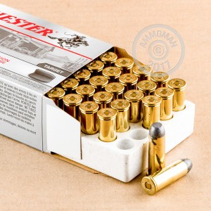 An image of 44-40 WCF ammo made by Winchester at AmmoMan.com.
