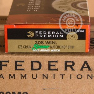 An image of 308 / 7.62x51 ammo made by Federal at AmmoMan.com.