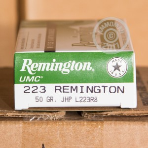 Image of 223 Remington ammo by Remington that's ideal for home protection, hunting varmint sized game, training at the range.