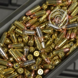 Image of Mixed 9mm Luger pistol ammunition.