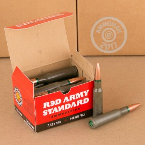 Image of 7.62 x 54R pistol ammunition at AmmoMan.com.