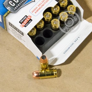 A photograph of 20 rounds of 125 grain 9mm Luger ammo with a JHP bullet for sale.