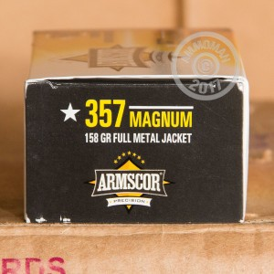 Image of Armscor 357 Magnum pistol ammunition.