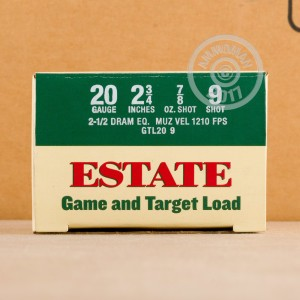 ammo made by Estate Cartridge with a 2-3/4