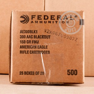 A photograph of 20 rounds of 150 grain 300 AAC Blackout ammo with a FMJ bullet for sale.