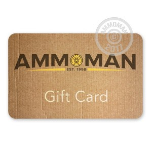 Photo detailing the THE AMMOMAN GIFT CARD for sale at AmmoMan.com.
