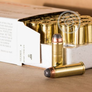 Photo of 44 Remington Magnum Jacketed Soft-Point (JSP) ammo by Winchester for sale at AmmoMan.com.