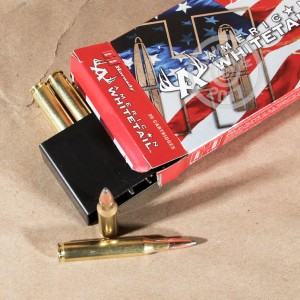 An image of 270 Winchester ammo made by Hornady at AmmoMan.com.