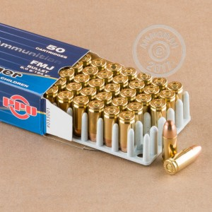 A photo of a box of Prvi Partizan ammo in 9mm Luger.