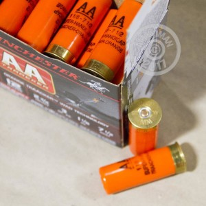 Great ammo for shooting clays, target shooting, these Winchester rounds are for sale now at AmmoMan.com.