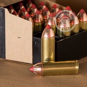A photograph of 20 rounds of 225 grain .45 COLT ammo with a JHP bullet for sale.