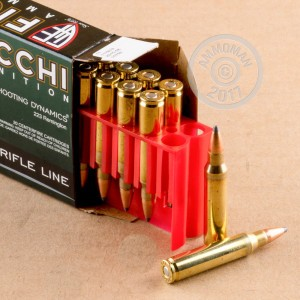A photo of a box of Fiocchi ammo in 223 Remington.