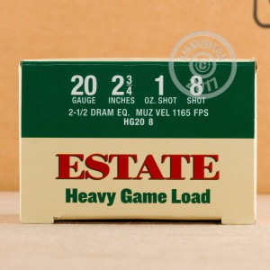 Great ammo for target shooting, upland bird hunting, these Estate Cartridge rounds are for sale now at AmmoMan.com.
