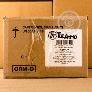 Photo of 38 Special FMJ ammo by Tula Cartridge Works for sale at AmmoMan.com.