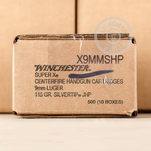 A photo of a box of Winchester ammo in 9mm Luger.