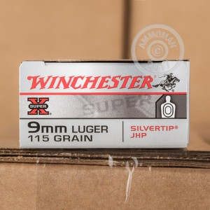 Image of 9mm Luger ammo by Winchester that's ideal for home protection.