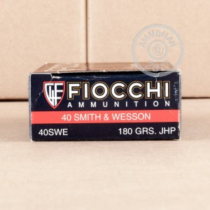 Image of .40 Smith & Wesson ammo by Fiocchi that's ideal for home protection, training at the range.
