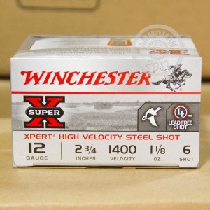 Great ammo for hunting waterfowl, upland bird hunting, these Winchester rounds are for sale now at AmmoMan.com.