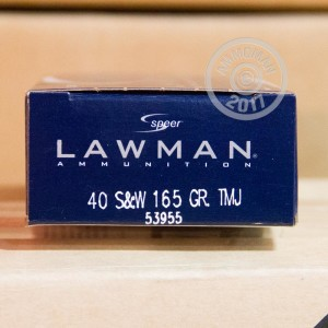 Image of .40 Smith & Wesson ammo by Speer that's ideal for training at the range.