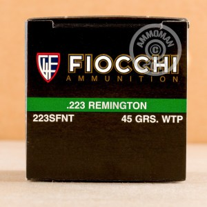 Photo of 223 Remington frangible ammo by Fiocchi for sale.