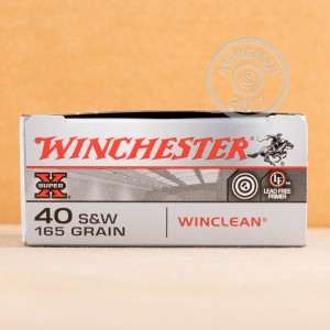 Photo of .40 Smith & Wesson brass enclosed base ammo by Winchester for sale at AmmoMan.com.