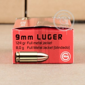 An image of 9mm Luger ammo made by GECO at AmmoMan.com.