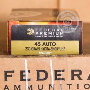 A photograph of 1000 rounds of 230 grain .45 Automatic ammo with a JHP bullet for sale.