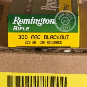 Image of 300 AAC Blackout pistol ammunition at AmmoMan.com.