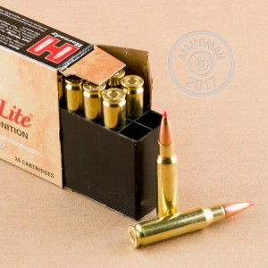 A photograph detailing the 308 / 7.62x51 ammo with SST bullets made by Hornady.