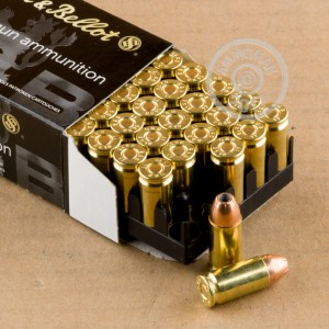 Image of Sellier & Bellot 9mm Luger pistol ammunition.