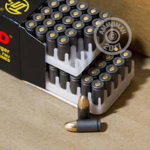 Photo of 9mm Luger FMJ ammo by Tula Cartridge Works for sale at AmmoMan.com.