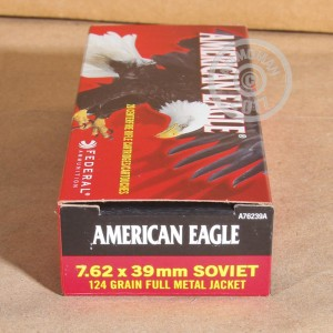 Photo of 7.62 x 39 FMJ ammo by Federal for sale.