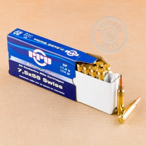 Image of 7.5 X 55 ammo by Prvi Partizan that's ideal for training at the range, whitetail hunting.
