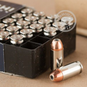 Image of .40 Smith & Wesson ammo by Fiocchi that's ideal for home protection.