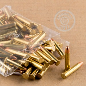 Photograph of .22 WMR ammo with Unknown ideal for training at the range.