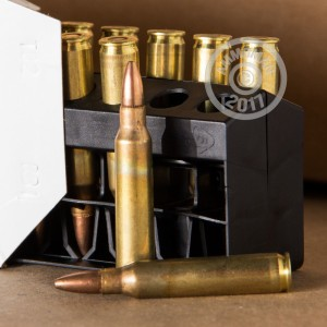Image of 223 Remington ammo by Remington that's ideal for hunting varmint sized game.