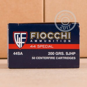 Image of 44 Special ammo by Fiocchi that's ideal for home protection.