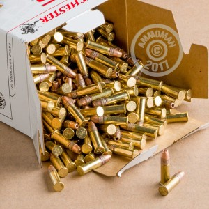Image of Winchester .22 Long Rifle bulk rimfire ammunition.