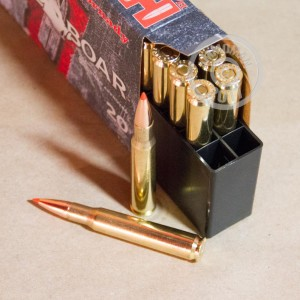 A photograph of 20 rounds of 165 grain 30.06 Springfield ammo with a GMX bullet for sale.
