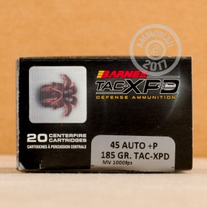 An image of .45 Automatic ammo made by Barnes at AmmoMan.com.