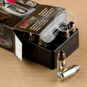 A photo of a box of Barnes ammo in .45 Automatic.