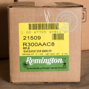 Photo of 300 AAC Blackout Open Tip Match ammo by Remington for sale.