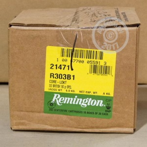 Image of 303 British ammo by Remington that's ideal for whitetail hunting.