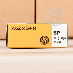 Image of Sellier & Bellot 7.62 x 54R rifle ammunition.