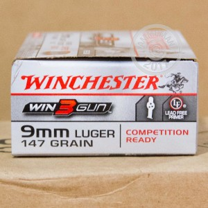 Photo of 9mm Luger brass enclosed base ammo by Winchester for sale at AmmoMan.com.