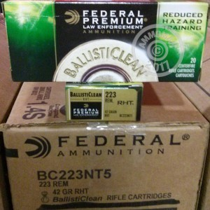 Image of 223 Remington ammo by Federal that's ideal for shooting steel targets, training at the range.